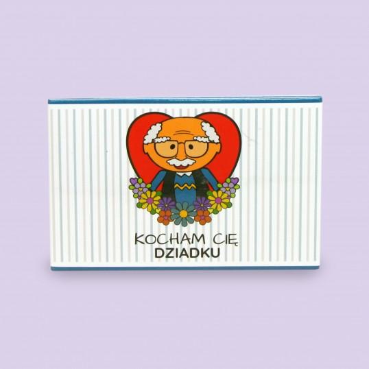Magnes na lodówkę - Kocham Cię Dziadku