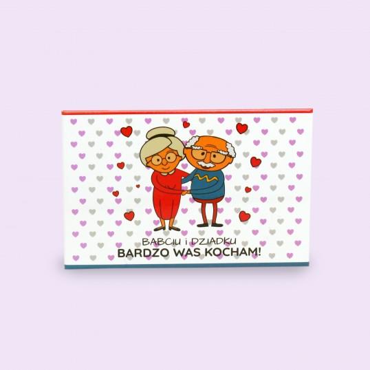 Magnes na lodówkę - Babciu Dziadku bardzo Was kocham