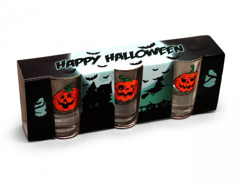 Śmieszne kieliszki z dyniami będą idealnym uzupełnieniem Halloween'owej imprezy w gronie znajomych. Kieliszki do wódki wyglądają mega fajnie i stylowo.