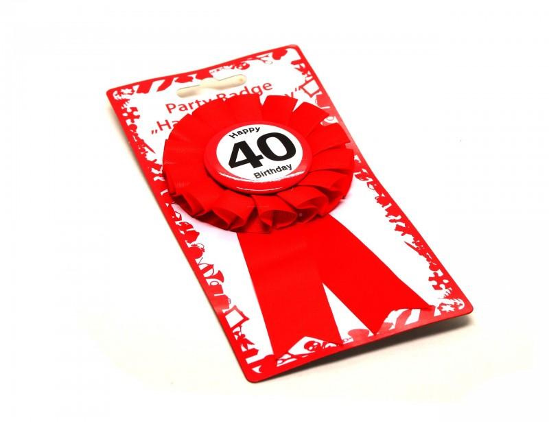 Śliczny, intensywnie czerwony kotylion to idealny dodatek do prezentu z okazji 40 urodzin. Kotylion jest zapinany od tyłu na wygodną agrafkę z zabezpieczeniem.