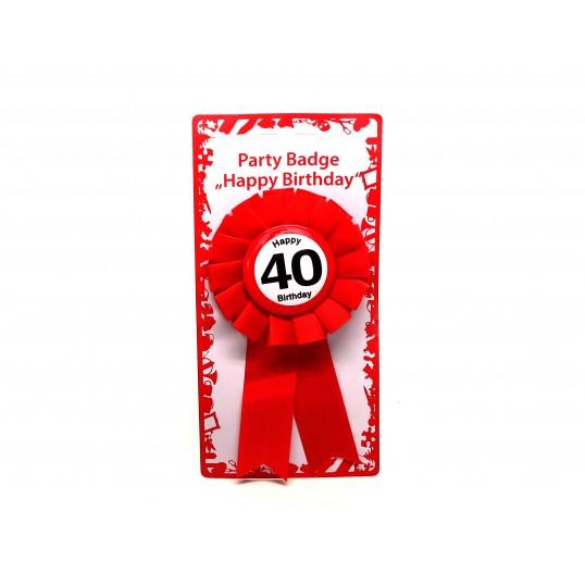 Kotylion na 40 urodziny