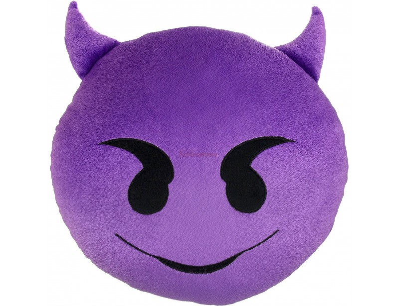 Ekstra, miękka poduszka emotka to super pomysł na prezent dla kolegi lub koleżanki. Poduszka ma kształt popularnej emotikony diabełka