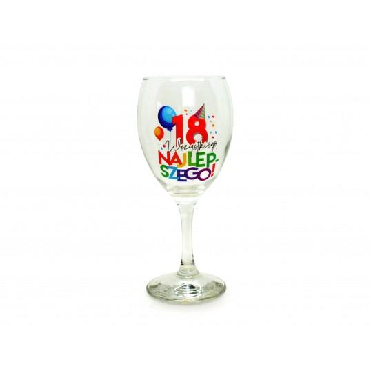 Kieliszek do wina na 18 - Wyluzowane urodziny