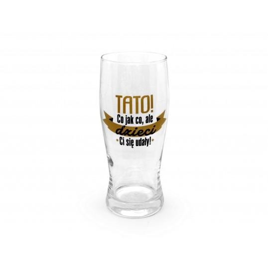 Szklanka do piwa - Tato, dzieci Ci się udały